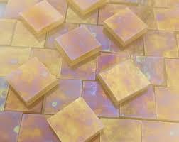 gold tile mosaic pieces etsy studio
