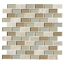 american olean delfino stone icy mist mixed material mosaic wall