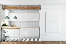 weiße küche interieur gefliesten boden poster stockfoto und mehr bilder das leben zu hause