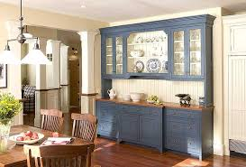 Blue Kitchen Hutch Contemporary Buffet Dining Room Storage Cabinet Throughout Large