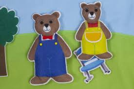 Goldilocks And The Three Bears Fairy Tale Felt Set