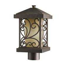 progress lighting cypress collection forged bronze 1 light post
