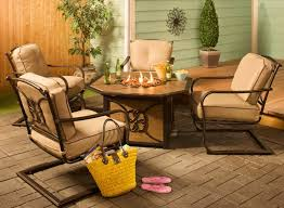 Patio Furniture Conversation Sets With Fire Pit by Cambria Outdoor Fire Pit Chat Set Host The Best Backyard Social
