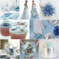 Blue And Silver Winter Wedding Ideas Romantic Colors Shades Vponsale Popular