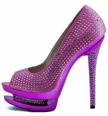 shoes lss00130 pink double platform crystal high heel peeptoe