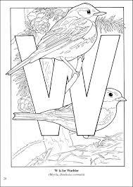 Birds Alphabet Coloring Book