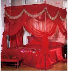 Twin Canopy Bed Curtains by Luxury 4 Post Bed Curtain Canopy Mosquito Net Cal King Queen Twin