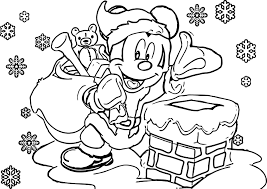 Disney Christmas Coloring Pages Wecoloringpage Inside