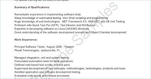 Software Testing Resume Format Best Example