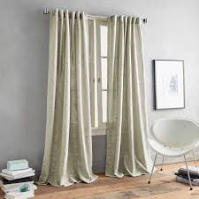 Gray Sheer Curtains Bed Bath And Beyond by Dkny Urban Luster Back Tab Window Curtain Panel Bed Bath U0026 Beyond