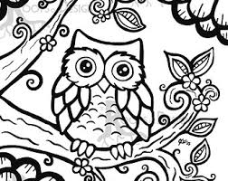 Owl Coloring Page Printable Free Pages Ideas