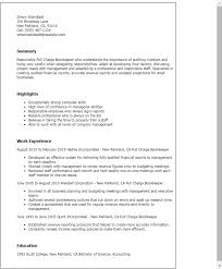 Resume Sample With Job Description Full Charge Bookkeeper Free