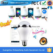 china outdoor wireless bluetooth speaker bt5 led rohs lightbulb