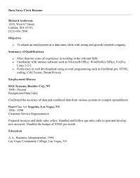 order entry clerk resume unforgettable data entry clerk resume