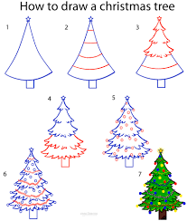 Types Of Christmas Trees In Oregon by How To Draw A Christmas Tree Step By Step Drawing Tutorial With