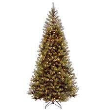 National Tree Company 7 Ft Aspen Spruce Hinged Artificial Christmas With 400 Clear Lights