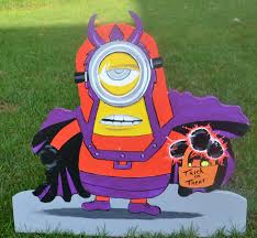 Metal Halloween Yard Stakes by Minion Magneto Lawn Art Yard Stake Decoration For Halloween