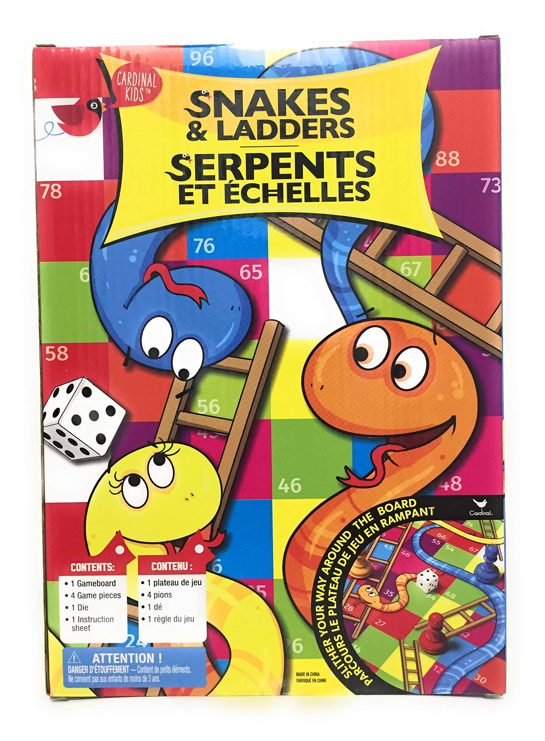 Snakes and Ladders by Cardinal Kids Board Game for 2 or More Players