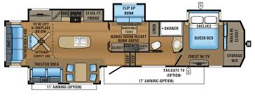 2010 Jayco 5th Wheel Floor Plans by New 2018 Grand Design Reflection 311bhs Fifth Wheel At General Rv