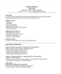 Resume Administrative Assistant Objective Examples Andaleco Ideas For Medical