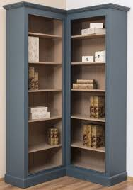 casa padrino country style corner cabinet blue beige 102 x 102 x h 210 cm solid wood bookcase country style living room furniture