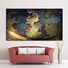 Game Of Thrones Map Block Giant Wall Art Poster
