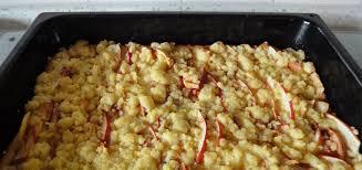 einfaches rezept für streusel kuchen mit äpfeln