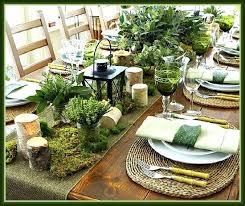 Rustic Table Decorations Greenery And Place Setting Christmas Ideas
