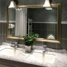 Double Vanity Bathroom Mirror Ideas by Bathroom Mirror Ideas Double Vanity Glass Three Shelves Attached
