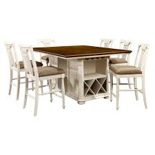Sun & Pine 7pc Country Storage Counter Height Table Set - Cherry And ... Carolina Tavern Pub Table In 2019 Products Table Sets Sunny Designs Bourbon Trail 3 Piece Kitchen Island Set With Gate Leg Ding Room Shop Now For The Lowest Prices Leons Dinettes And Breakfast Nooks High Top Dinette Just Fine Tables Farm To Love Last Part 2 5 Windsor Back Counter Chairs By Best These Gorgeous Farmhouse Bar Models Buy French Country Sets Online At Overstock Our Add Stylish Rectangular Residential Or Commercial Fniture Lazboy Adorable Small And Standard