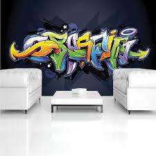 consalnet vliestapete buntes graffiti verschiedene motivgrößen für das büro oder wohnzimmer
