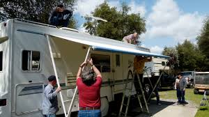RV Wheel Life » Blog Archive » Up Goes The New RV Awning, With The ... 4x4 Car Side Rv Awning4wd Alinum Pole Oxfordcanvas Retractable Solera Awning Shades Covertech Inc Rv Awnings Replacement Cafree Of Colorado 292000 Size 2021 Vacationr Room Protect Your Gypsy Journal Travel Newspaper Fiesta Of Patio Freedom By Wheel Life Blog Archive Up Goes The New Awning With Window Fabric Vinyl And Acrylic Installing An Led Strip Light Tech Rvrob Replacing Ae Slide Topper Standard Method Youtube