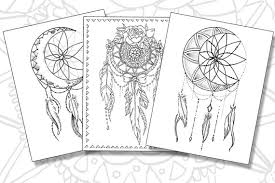 Dream Catcher Pack Adult Coloring Pages Instant Download