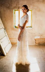 Simple Wedding Dress Backyard Rustic Casual