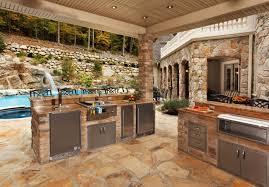 Pool Side Rustic Kitchen Island