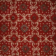 Our Kilim Inspired Ruby Kilim Print With Red Black And Tan