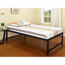 Black Steel Hi riser Twin Bed with Pop up Trundle Free Shipping