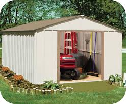 Arrow Shed Door Assembly by Arrow 10x14 Oakbrook Steel Storage Shed Kit Ob1014