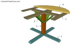 free round picnic table plans free garden plans how to build