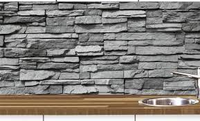 küchennischen deko set wand küchen spritzschutz wandschutz naturstein grau 68