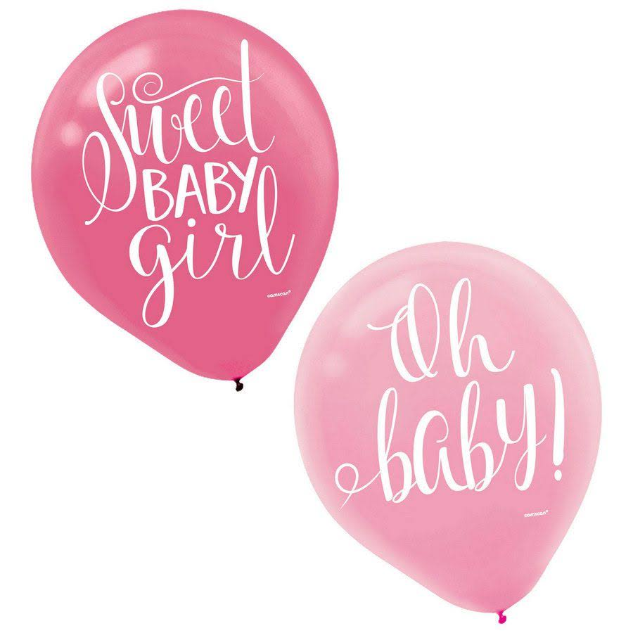 Amscan Floral Baby Latex Balloons