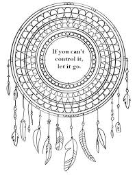 If You Cant Control It Let Go Color Your Way To Free Coloring PagesColoring Pages For AdultsQuote