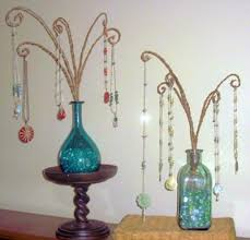 Colorful Glass Bottle Necklace Display 21270069