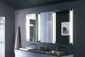 wall mounted makeup mirror lighted led bathroom silvered with