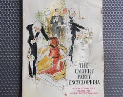 Vintage Cocktail Party Book Retro Encyclopedia Mid Century