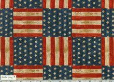 Rustic AMERICAN FLAG USA America The Beautiful By StitchinAway 895