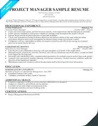 Construction Manager Resume Template Management Finance Project