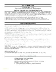 Child Education Resume Examples With Massage Therapist Resumes Or Example Of For