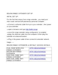 belkin n300 range extender setup belkin router login