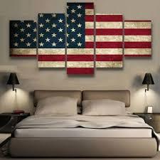 Rustic American Flag Canvas Set